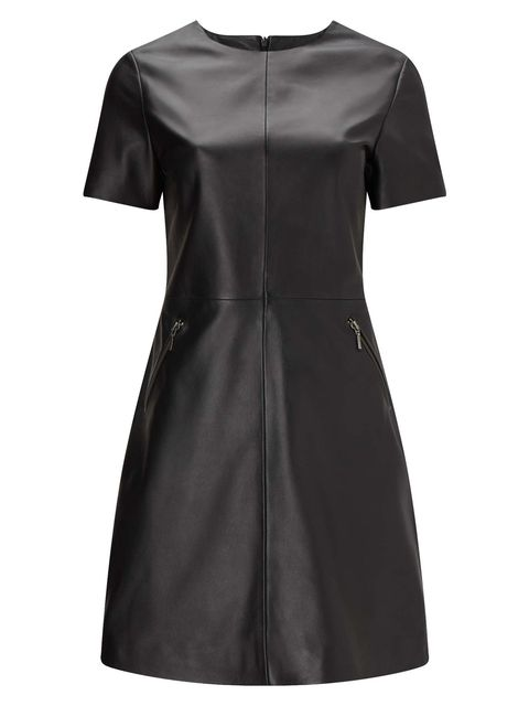 princess eugenie topshop leather dress