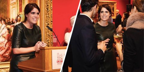 Princess Eugenie just wore a leather Topshop dress for an official royal event