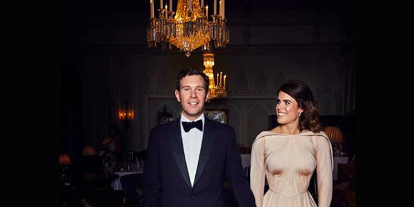 Princess Eugenie and Jack Brooksbank at their wedding reception