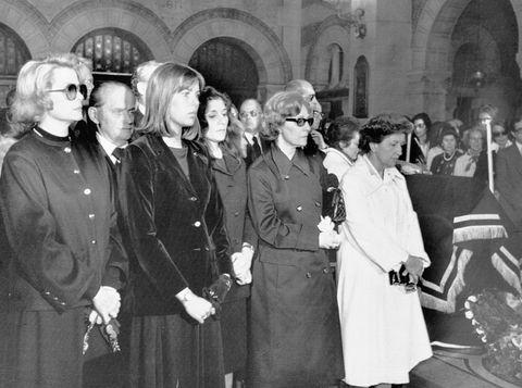 princess grace and princess caroline attending funeral services