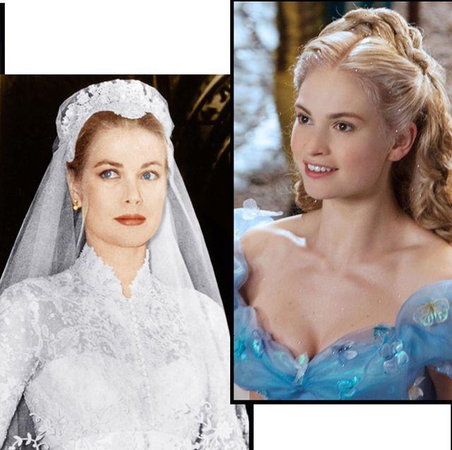 プリンセス ウエディング 結婚式 インスピレーション 可愛い おしゃれ ロイヤル 映画 参考 ドレス姿 ヘアメイク