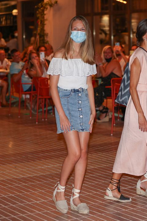 their majesties the king and queen, princess leonor and infanta sofia attend a family dinner during their holidays in majorca