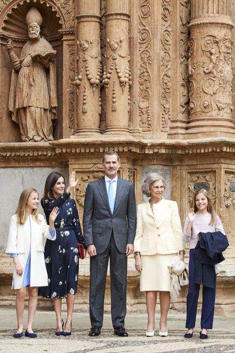 Spanish Royals Attend Easter Mass In Palma De Mallorca