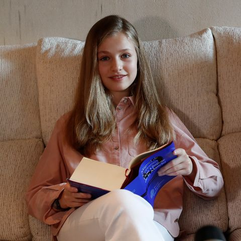 princess leonor of spain l and princess sofia of spain r read el quijote book during the xxiv edition of continuous reading of el quijote