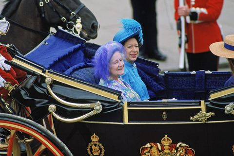 Margaret And Queen Mother In Carriage