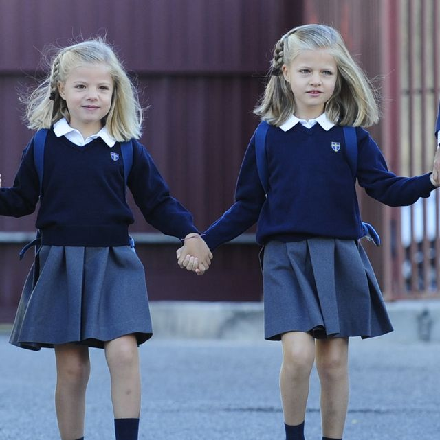 spanish royals leonor and sofia attend first week of school