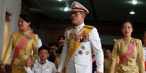 (L-R) HRH Princess Srirasm, Prince Dipan