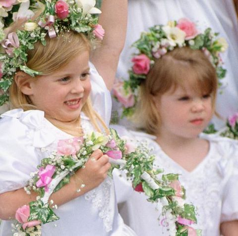 princess eugenie as a young bridesmaid
