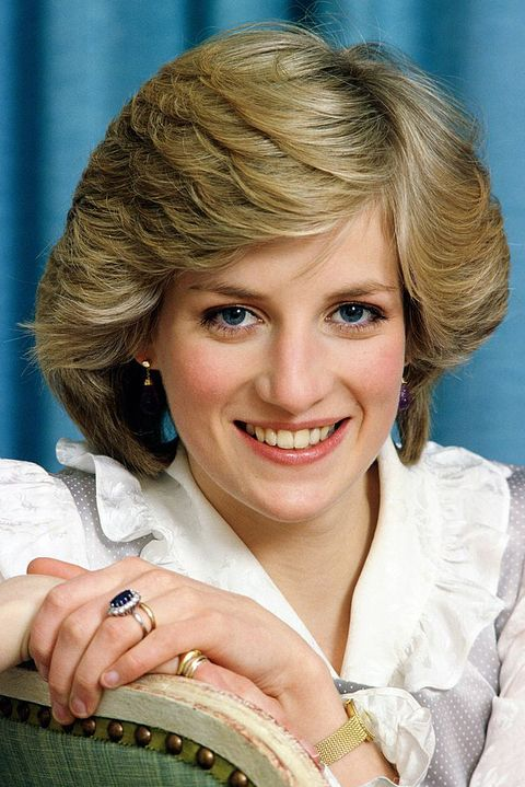Diana, Princess of Wales at home in Kensington Palace