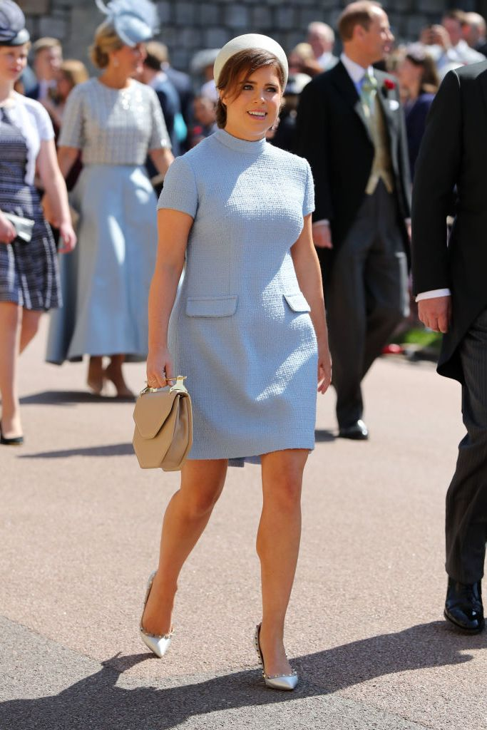 Princess Eugenie arriving at the royal wedding.