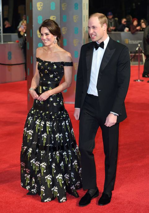 Kate Middleton and Prince William at the BAFTAs