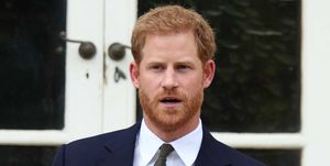 ElPríncipe Harry en un momento del acto para la Commonwealth