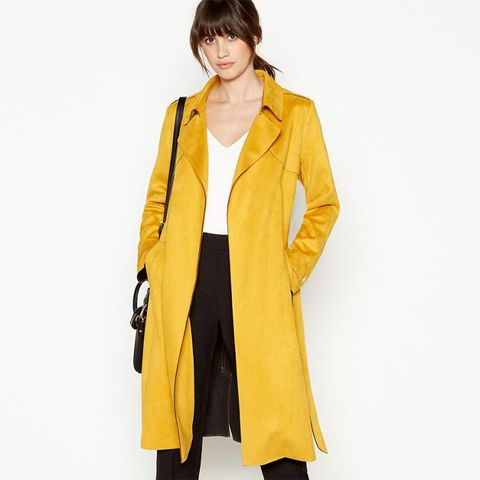 Principles - Yellow Suedette Trench Coat