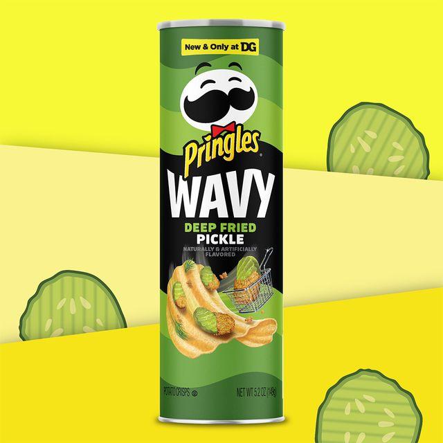 pringles wavy deep fried pickle chips flavor