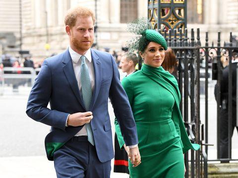 Prins Harry Meghan Markel biograaf Angela LevinCommonwealth Day Service 2020