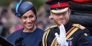 Prins Harry & Meghan Markle tijdens Trooping The Colour 2019