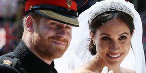 Prins Harry en Meghan Markle op hun trouwdag