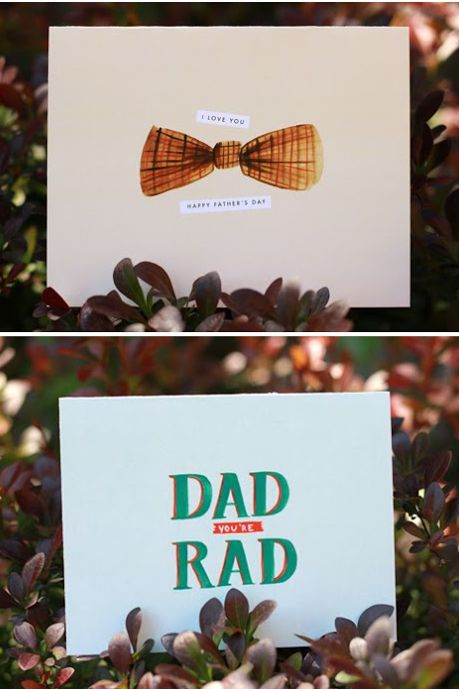 printable fathers day cards bowtie