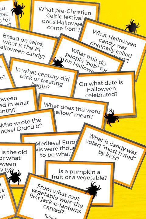 printable halloween trivia halloween games