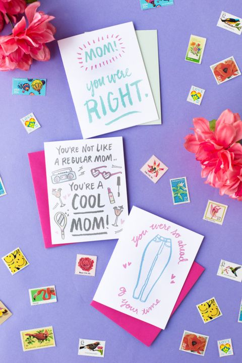printable mothers day cards playful