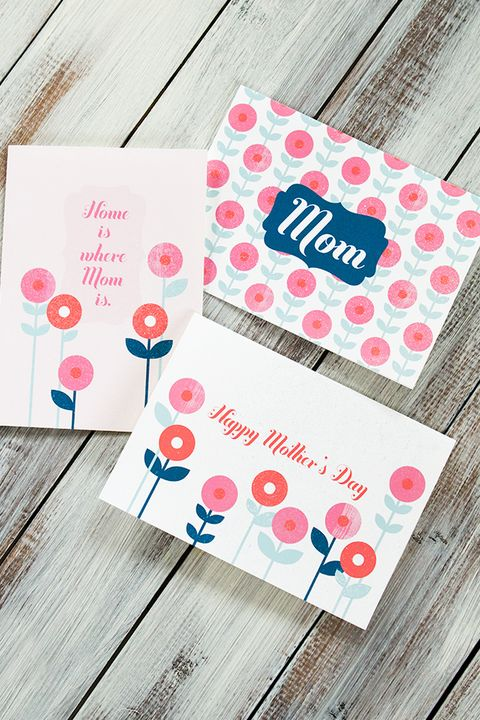 printable mothers day card simple