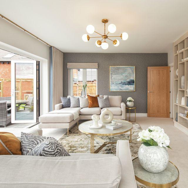 priors crescent living room, haus interiors show home