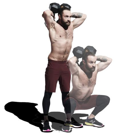 Weights, Kettlebell, Exercise equipment, Arm, Standing, Muscle, Dumbbell, Leg, Shoulder, Joint,