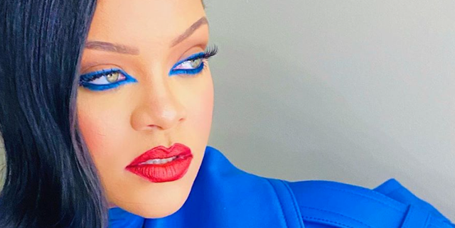 Image of article 'Rihanna Looks Incredible in This Electric-Blue Makeup Look'