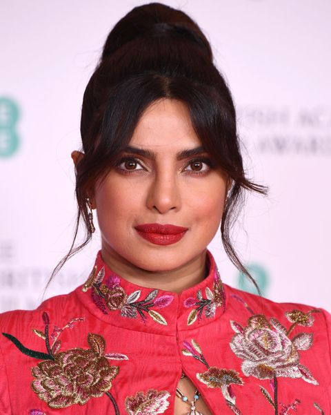 london, england   april 11 awards presenter priyanka chopra jonas attends the ee british academy film awards 2021 at the royal albert hall on april 11, 2021 in london, england photo by jeff spicergetty images