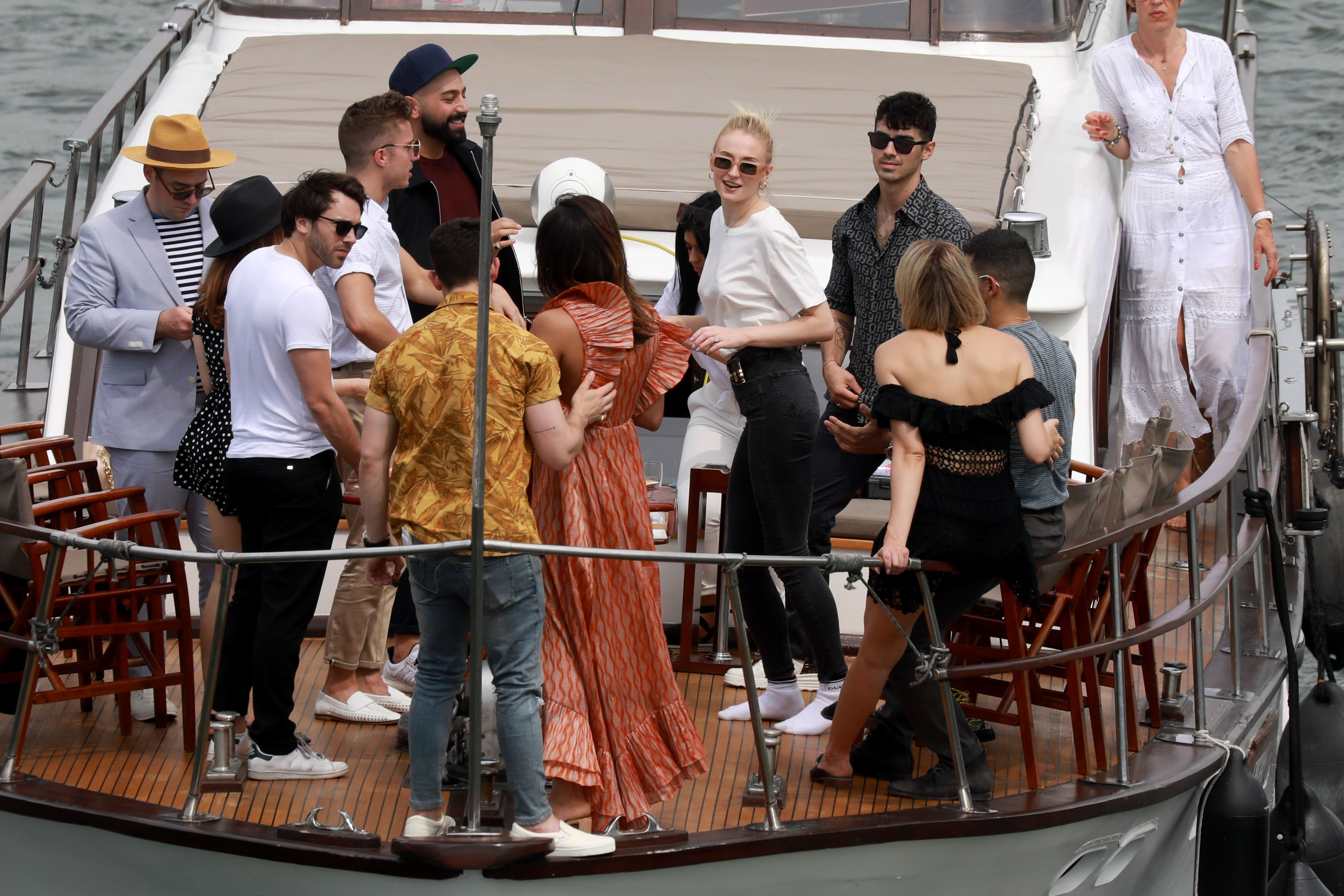 Sophie Turner and Joe Jonas throw a pre-wedding boat party in Paris