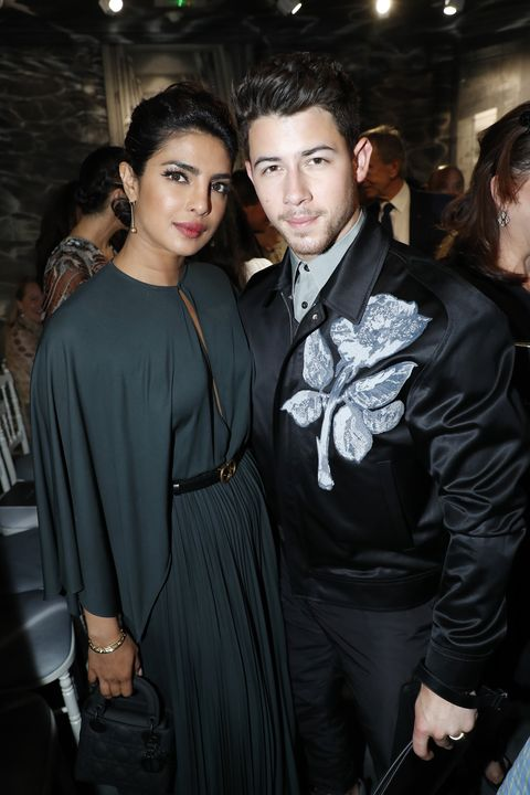 priyanka chopra and nick jonas at dior's fallwinter 2019 show