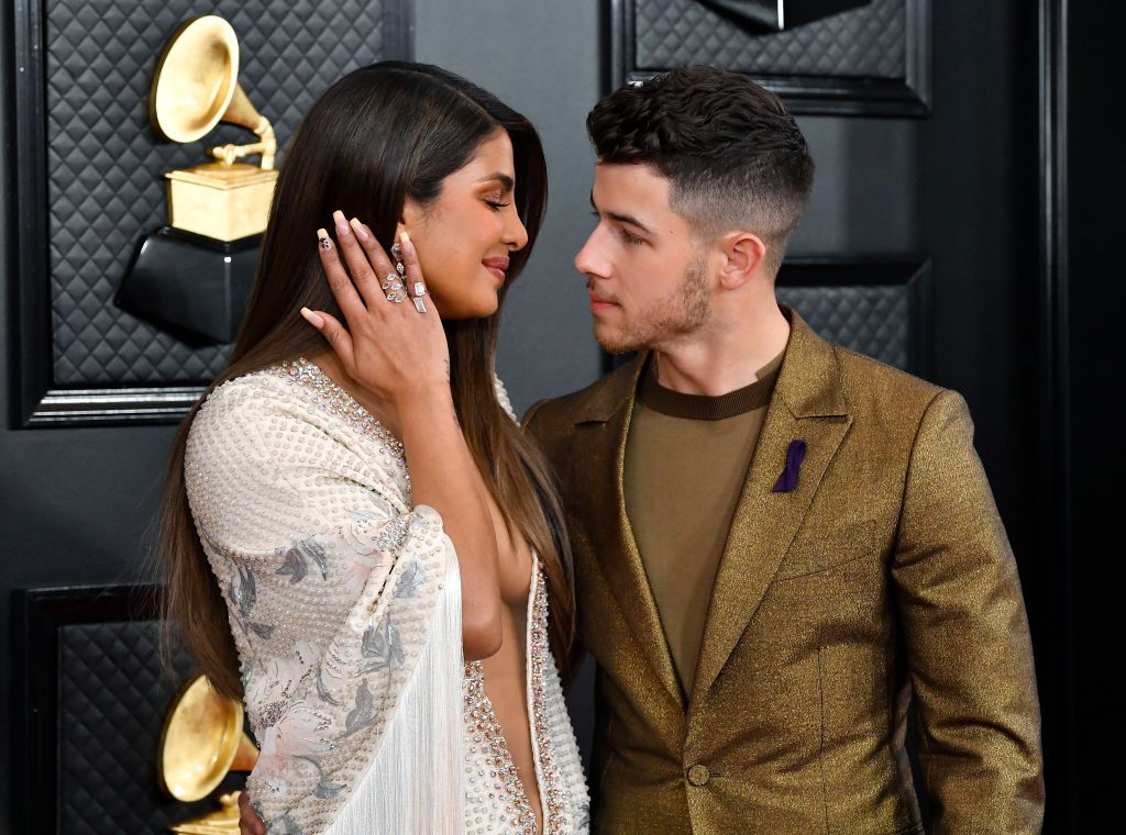 Priyanka Chopra and Nick Jonas Glow on the 2020 Grammys Red Carpet