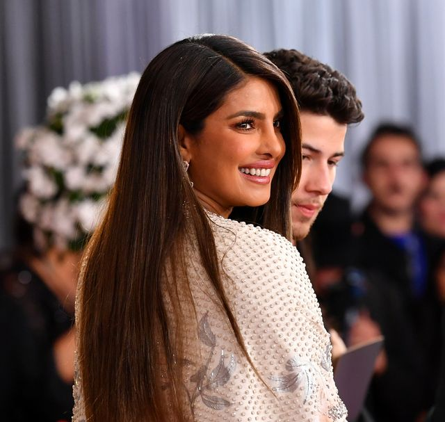 los angeles, california   january 26 l r priyanka chopra and nick jonas attend the 62nd annual grammy awards at staples center on january 26, 2020 in los angeles, california photo by amy sussmangetty images
