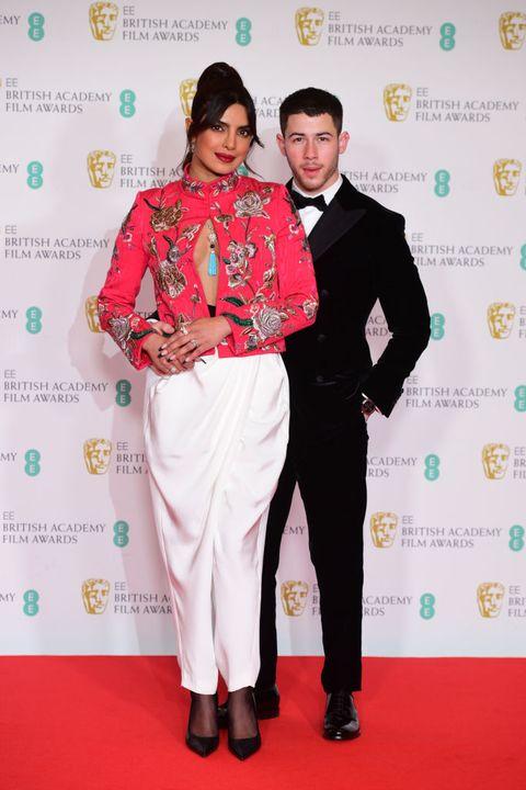 priyanka chopra en nick jonas bij de bafta film awards 2021