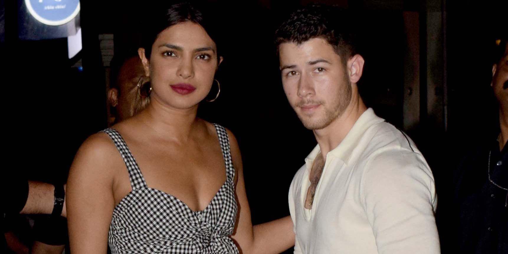 Bollywood Actor Priyanka Chopra And American Singer And Actor Nick Jonas In Mumbai