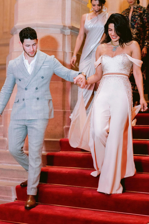 Priyanka Chopra wedding dress - reception outfits