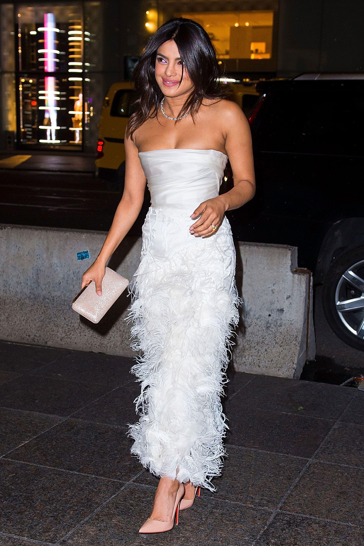 Priyanka Chopra in Marchesa bridal gown
