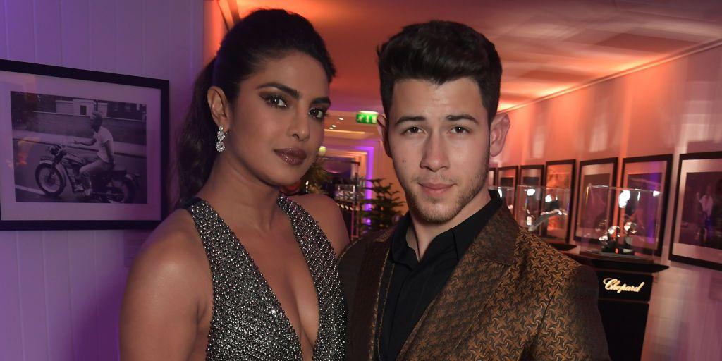 See Priyanka Chopra's Stunning Metallic Halter Dress at Vanity Fair's Cannes Party