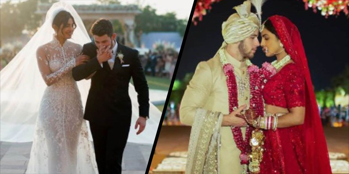 See Priyanka Chopra\'s Ralph Lauren wedding gown for the first time ...