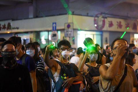 Pro-democracy protestors in Hong Kong