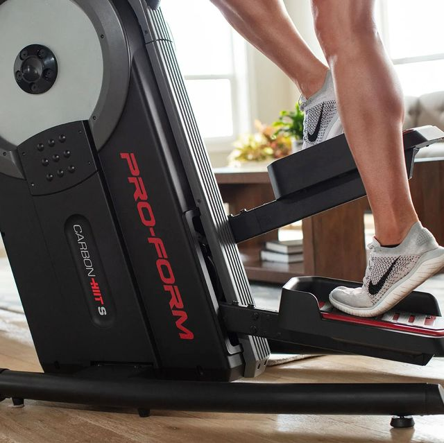 woman using pro form stair stepper