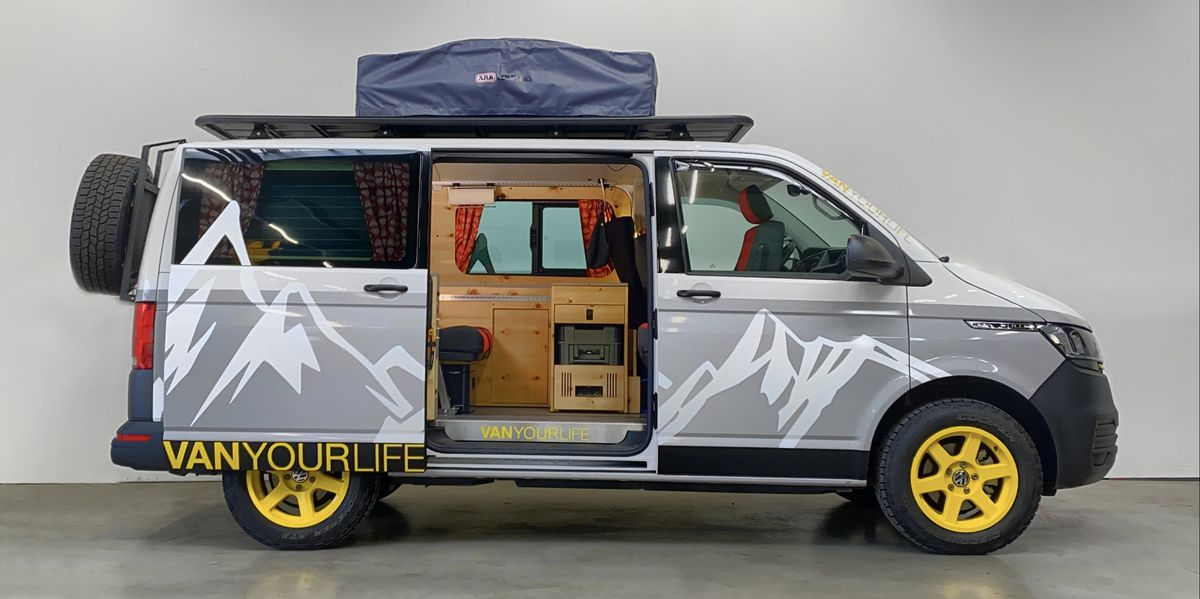This Off-Road Camper Van Is Practically a Rolling Ski Lodge