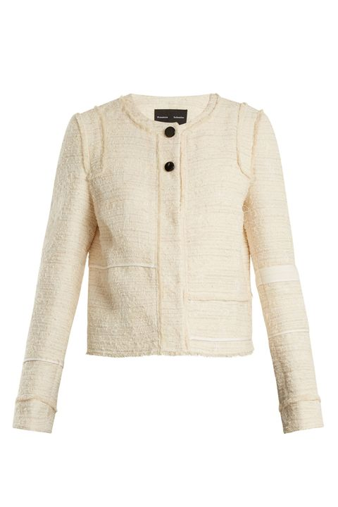 Clothing, Outerwear, White, Jacket, Sleeve, Beige, Blazer, Top, Sweater, Cardigan,