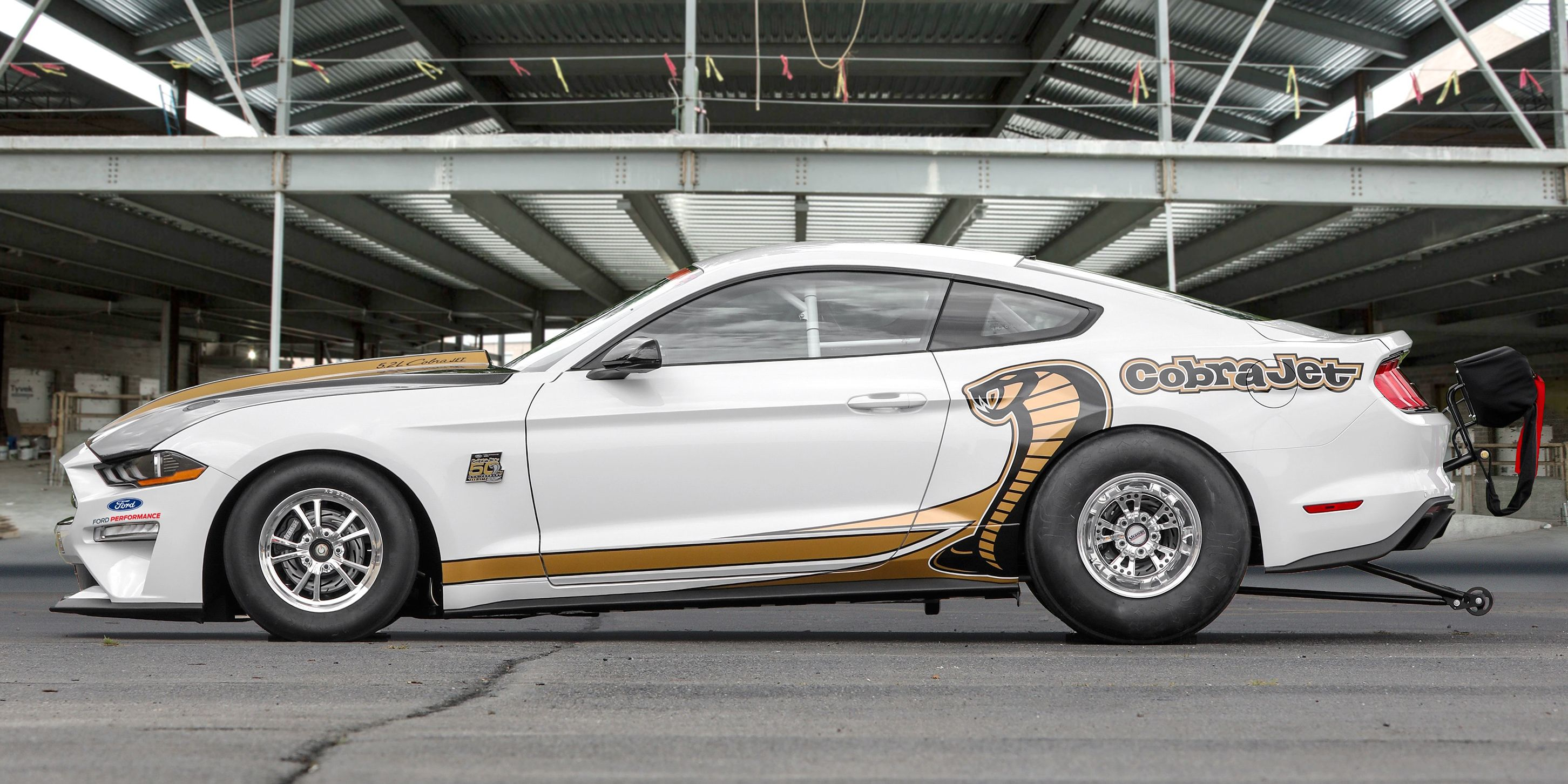 The new ford mustang cobra jet is an eight second drag monster