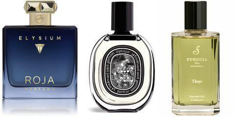 Perfume, Product, Beauty, Liquid, Cosmetics, Fluid, Material property, Brand, Bottle, Glass bottle,