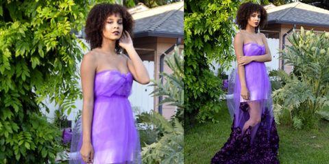 Shami Oshun makes her own prom dress