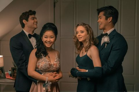 to all the boys ive loved before 3  noah centineo as peter kavinsky, lana condor as lara jean covey,  ross butler as trevor, in to all the boys ive loved before 3 cr katie yu  netflix © 2020
