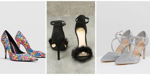 Footwear, Shoe, High heels, Sandal, Wedge, Glitter, Fashion accessory,
