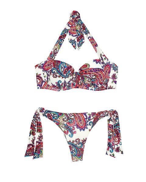 Bikini, Swimsuit top, Swimwear, Swimsuit bottom, Clothing, Lingerie, Undergarment, Lingerie top, Maillot,