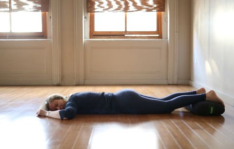 Prone savasana